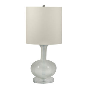 Lamp Works 206(INC) Blown Milk Glass Table Lamp
