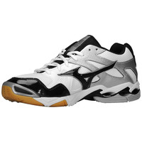 Mizuno Men's Wave Bolt 4 Volleyball Shoes - White Black