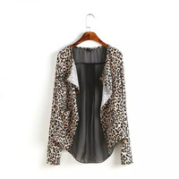 Leopard Long-Sleeve Blazer