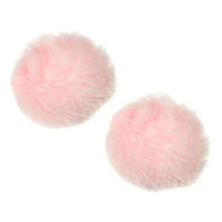 FUZZBALL POM EARRINGS