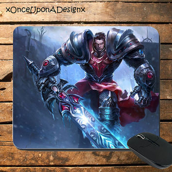 League Of Legends Mousepad Dreadknight Garen Mousepad LoL Mousepad Garen Mousepad Custom Mousepad Videogame Mouespad Gaming Mousepad