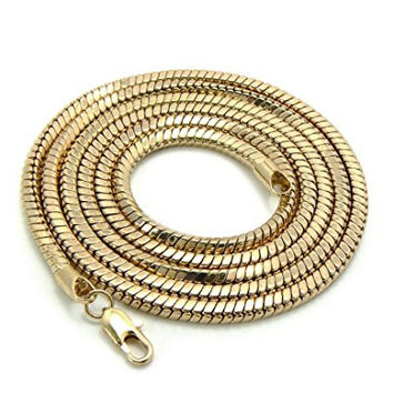 Gold 36 Inch Snake Franco Chain Necklace Good Quality