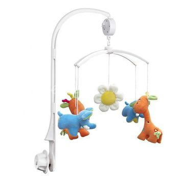 Baby Crib Mobile Bed Bell Kids Toy Holder Arm Bracket and Wind-up Music Box Home Decor