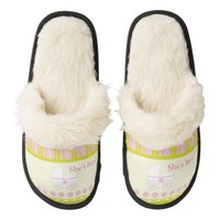 Baby Shower Gift Fuzzy Slippers