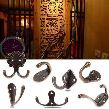 DCCKL72 Cheap Promotion VintaAntique Door Robe Hooks Bedroom Bathroom Clothes Coat Hat Bag Towel Hanger Clasp Zinc Alloy