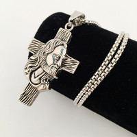 Stylish Shiny Jewelry Gift New Arrival Club Hip-hop Cross Rack Necklace [8439440131]