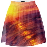 Purple sunset Summer Skirt