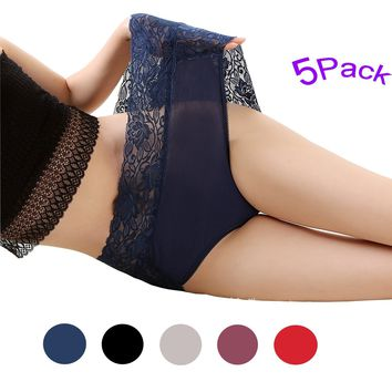 Womens Hipster Lace Underwear Sexy Lingerie Waist Brief Panties Pack of 5