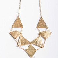 Geometric Chain Necklace in Gold