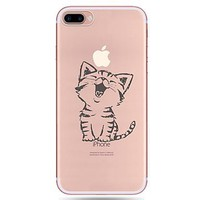 For Apple iPhone 7 7Plus 6S 6Plus Case Cover Cartoon Cat Pattern Painted TPU Material Soft Package Phone Case