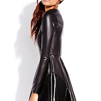 Street Chic Faux Leather Dress