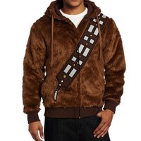 Star Wars Chewbacca Furry Polyester Hoodie Jacket Coat For Men Movie Halloween Cosplay Costume