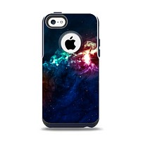 The Glowing Colorful Space Scene Apple iPhone 5c Otterbox Commuter Case Skin Set