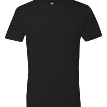 Next Level 3600 Premium Fitted Short Sleeve Crew with TearAway Label (Black / S)