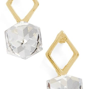 Topshop Cutout Crystal Earrings | Nordstrom