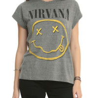 Nirvana Smiley Logo Girls Crop Top