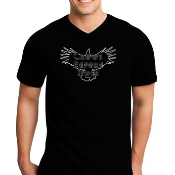 Crows Before Hoes Design Adult Dark V-Neck T-Shirt by TooLoud