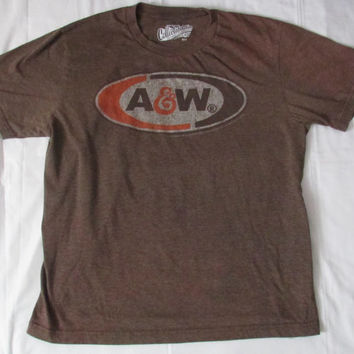 14-1119 Vintage A&W T Shirt / Root Beer T Shirt / Soft Drink T Shirt / T Shirt / TShirt