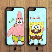 Best Friends Forever Couple Case,Spongebob and Patrick Couple Case,iPhone 6+/6/5/5S/5C/4S/4