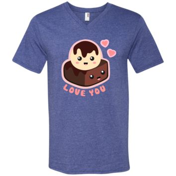 Happy Valentines t shirt 982 Anvil Men's Printed V-Neck T-Shirt