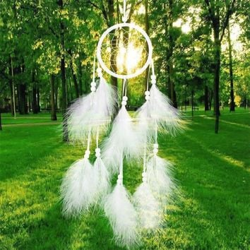 55cm Handmade Indian Dream Catcher Net with Feathers Wind Chimes Wall Hanging Dreamcatcher Craft Gift Free