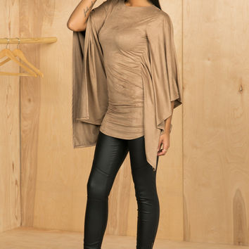Suede Mocha Tunic- FINAL SALE