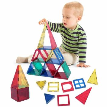 Magnetic Tiles 32 Piece Magnets Building Blocks Toy Educational Learning Kids 657228228534
