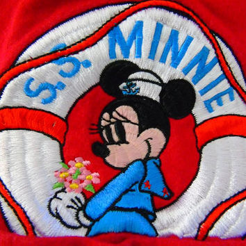 Walt Disney T Shirt S.S. Sailor Minnie RARE 90s Disney Designs Exclusively for Theme Parks and Resorts Red Unisex  L /XL