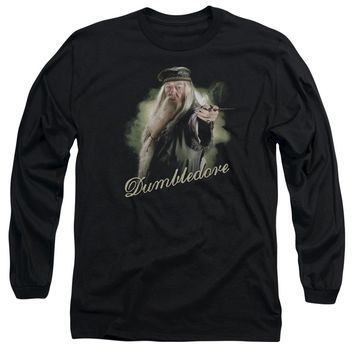 Harry Potter - Dumbledore Wand Long Sleeve Adult 18/1 Officially Licensed Shirt