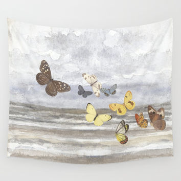 Butterfly escape Wall Tapestry by anipani