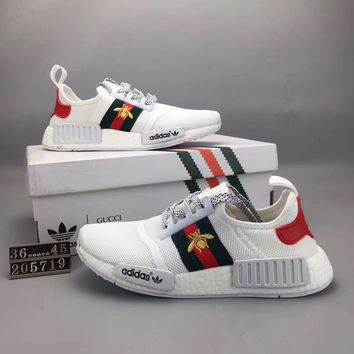 """""""Adidas NMD Runner Pk"""" Summer Unisex Sport Casual Stripe Breathable Sneakers Couple Light Running Shoes"""