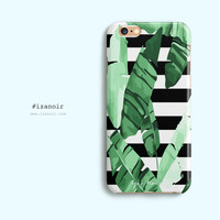 iPhone 6/6s iPhone 6/6s Plus Hard/Tough Phone Case Striped Palm Tree Design Dual Layer Case 3D Dye Sublimation Durable