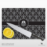 Darth Vader Star Wars Damask Glass Cutting Board -  Perfect For StarWars Fans