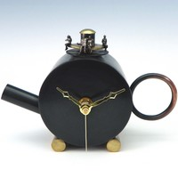 Tea Time by Malcolm Owen Mary Ann Owen: Metal Clock | Artful Home
