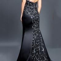 Black Label Couture 57 Strapless Embroidered Evening Gown Prom Dress