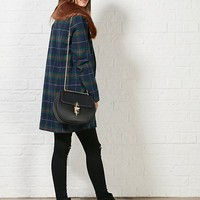 Hearts and Bows Alexa Tartan Faux Fur Coat | ARK Clothing