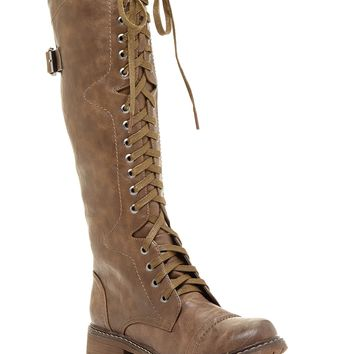 EXTREME By Eddie Marc | Rae Tall Lace-Up Boot | Nordstrom Rack
