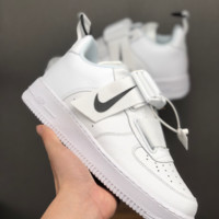 HCXX 19June 1189 NIKE AIR FORCE 1 Utility QS Magnetic tie Low Skateboard Shoes