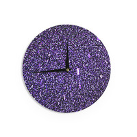 "Maynard Logan ""Purple Dots"" Wall Clock"
