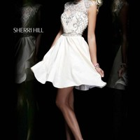 Sherri Hill 4300 Ivory Patterned Party Dress [4300] - $235.00 : 2015 Dress Gown Store|DressGownStore.com
