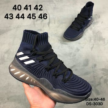 Adidas Crazy Explosive 2018 PK Men Women Fashion Casual Sports Basketball Shoes Blue