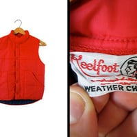 Vintage Red Puffy Vest 1970s Reelfoot Weather Chief - Men's XS / Women's Small