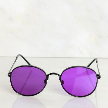 Statement Sunglasses Purple
