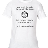 Uncomfortable Orc D20 DnD Dungeons And Dragons Roleplay RPG Tabletop Printed Fun Novelty Joke Unisex T-Shirt