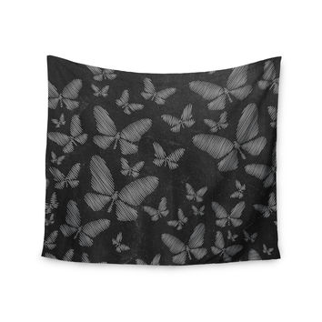"Snap Studio ""Butterflies III"" White Chalk Wall Tapestry"