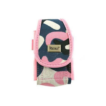 Vertical Rugged Pouch PH01 S Pink Army Camouflage Pattern