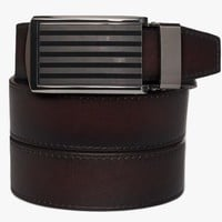 Mahogany Premium Full Grain Leather Belt