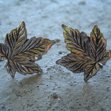 BEAU Sterling Leaf Earrings