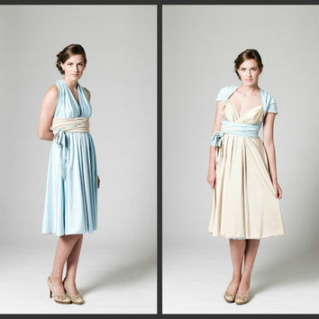 Convertible Bridesmaid DressTHE REVERSIBLE by isadoraclothing