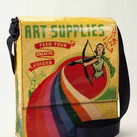 Art Supplies Bag with Matching Pencil Case